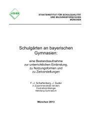 Schulgärten an bayerischen Gymnasien: - ISB - Bayern