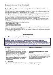 Berufsorientierender Zweig Wirtschaft 9 - ISB