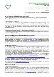 Kontaktbrief 2013 - ISB - Bayern