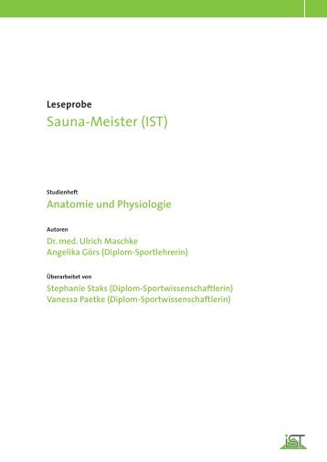 Sauna-Meister (IST) - IST-Studieninstitut