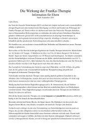 Die Wirkung der FranKa-Therapie (PDF) - Kasseler Stottertherapie