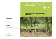 Pflege- und Entwicklungsplan Moorteichwiese - Landeshauptstadt Kiel