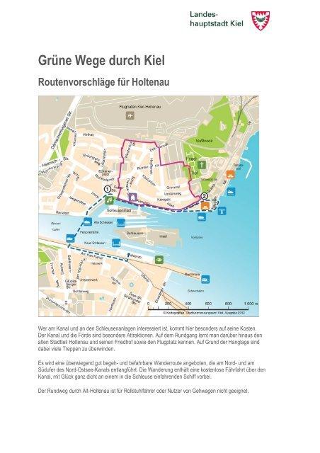 Grüne Wege durch Kiel Routenvorschläge für Holtenau
