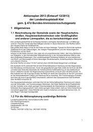 Aktionsplan 2013 (Entwurf 12/2013) der Landeshauptstadt Kiel gem ...