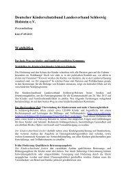 Deutscher Kinderschutzbund Landesverband Schleswig Holstein ...