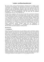 Leisten- und Bauchwandhernien - Klinikum Landsberg am Lech