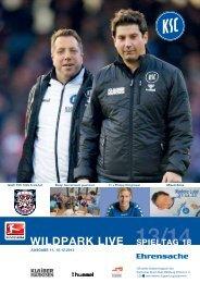 Stadionzeitung 18. Spieltag (KSC - FSV Frankfurt) - Karlsruher SC
