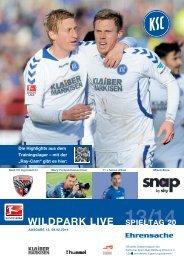 Stadionzeitung 20. Spieltag (KSC - FC Ingolstadt) - Karlsruher SC