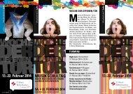Flyer Woche der offenen Tür an der Städtischen Musikschule