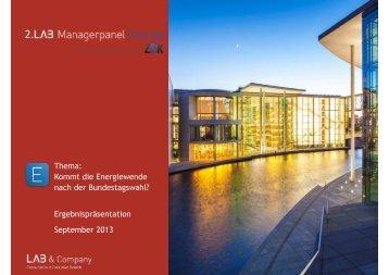 Managerpanel Energie in Zusammenarbeit mit Zfk - LAB & Company
