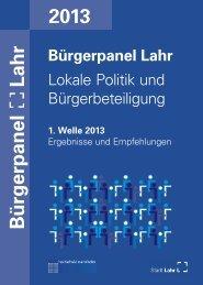 Ergebnis-Broschüre 1. Welle 2013 (application/pdf) - Stadt Lahr