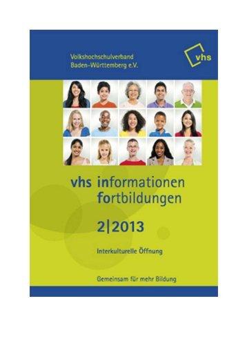 Fortbildungen VHS-Verband BW 2/2013 (application/pdf) - Stadt Lahr
