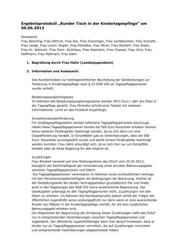 Protokoll vom 06.06.2013