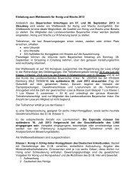Ausschreibungstext - Landesverband Bayerischer Imker eV