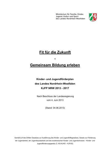 Kinder- und Jugendförderplan 2013-2017 - Landschaftsverband ...