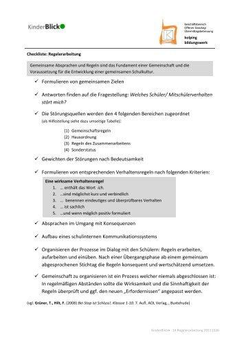 Checkliste Regelerarbeitung KBW (PDF, 330 KB)