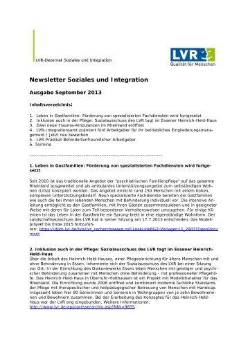 Newsletter September 2013 - Landschaftsverband Rheinland