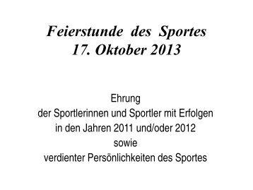 Ehrungen im Überblick (PDF) - Marl