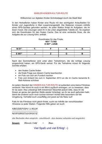 """""""Marler Kinder-Kultur-Route"""" (PDF-Dokument, 33KB)"""