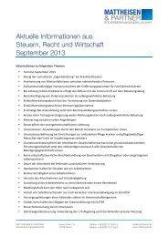 Aktuelle Informationen aus Steuern, Recht und Wirtschaft ...