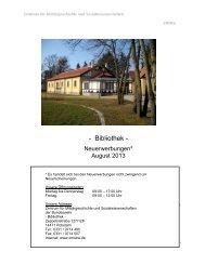 Bibliothek - Militärgeschichtliches Forschungsamt der Bundeswehr