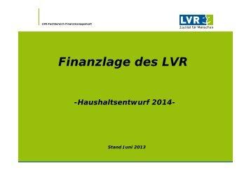 Informationen zum Haushaltsentwurf (PDF, 1 MB)