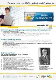 Datenschutz und IT-Sicherheit sind Chefsache - neumeier AG