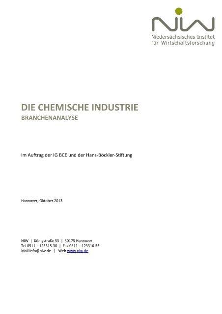 DIE CHEMISCHE INDUSTRIE - NIW