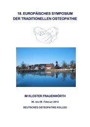 18. europäisches symposium der traditionellen osteopathie