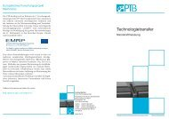 Nanokraftmessung - Physikalisch-Technische Bundesanstalt