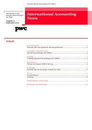 International Accounting News, Ausgabe 12, Dezember 2011 - PwC