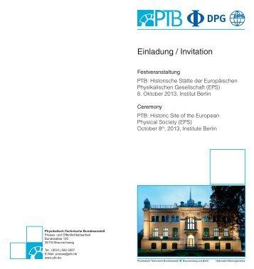 Einladung PTB-EPS-Veranstaltung.indd - Physikalisch-Technische ...