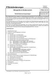 PTB-Anforderungen - Physikalisch-Technische Bundesanstalt