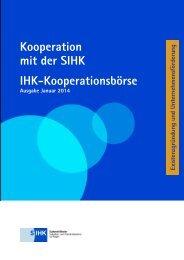 Kooperation mit der SIHK IHK-Kooperationsbörse - Südwestfälische ...
