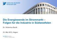 Dr. Hubertus Bardt - Südwestfälische Industrie