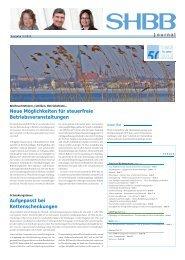 SHBB Journal (Ausgabe 04/2013)