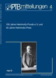PTB-Mitteilungen 2013 Heft 4 - Physikalisch-Technische ...