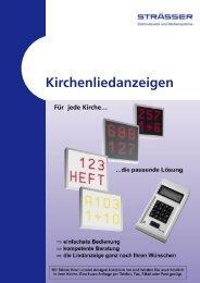 Liedanzeigen - Strässer GmbH & Co. KG