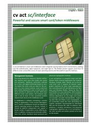 cv act sc/interface Powerful and secure smart card/token middleware