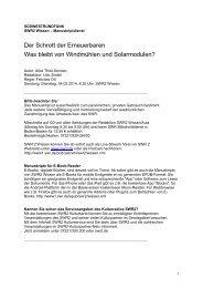 SWR2 Wissen Der Schrott der Erneuerbaren - Südwestrundfunk