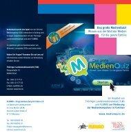 Faltblatt MedienQuiz - Thüringer Landesmedienanstalt
