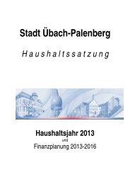 Haushaltsplan 2013 - Stadt Übach Palenberg