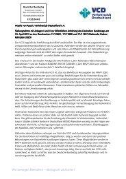 Stellungnahme des VCD zum NRVP 2020