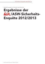 Ergebnisse der /ASW-Sicherheits- Enquête 2012/2013 - VdS