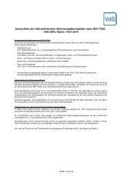 Verzeichnis DIN 77200 - VdS