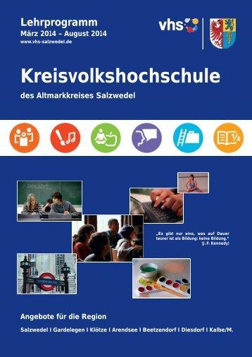 Kursprogramm PDF 3,9MB - Kreisvolkshochschule Salzwedel