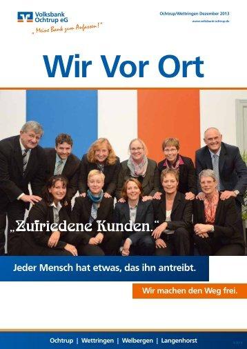 Ausgabe Dezember 2013 - Volksbank Ochtrup eG