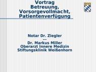 Vortrag Unternehmensnachfolge- Notar Dr. Ziegler