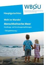 Handlungs- und Forschungsempfehlungen - WBGU