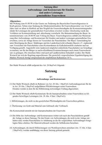 Feuerwehr Aufwandssatzung.pdf - Markt Werneck
